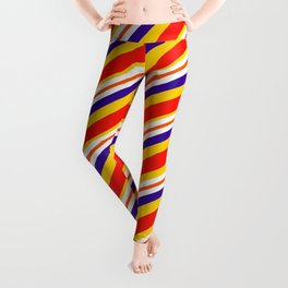 Team Colors,,,red,yellow and blue stripes Leggings