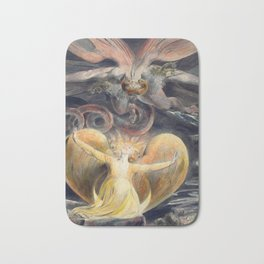 William Blake The Great Red Dragon and the Woman Clothed with the Sun Bath Mat