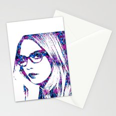 Cara in the city Stationery Cards