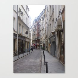 Winding Parisian alley Canvas Print