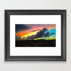 Oceanic Skies Framed Art Print