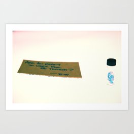 Less Than Zero (Blue Movies) Art Print