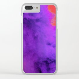 Ultra Violet Smoke Cloud (Color) Clear iPhone Case