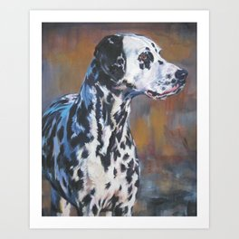 The Dalmatian dog art portrait from an original painting by L.A.Shepard Art Print