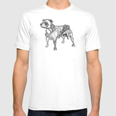 Staffie #2 Mens Fitted Tee White MEDIUM
