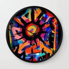 Black Sun is shining Abstract Art Street Graffiti Wall Clock