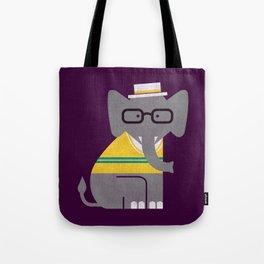Rodney the preppy elephant Tote Bag