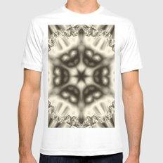 Sepia jewelled kaleidoscope splendor Mens Fitted Tee MEDIUM White