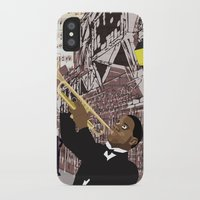 louis armstrong iPhone & iPod Cases featuring Louis Armstrong by Criag Wilwol's Studio Shop