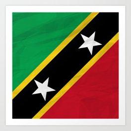 Saint Kitts and Nevis - North America Flags Art Print