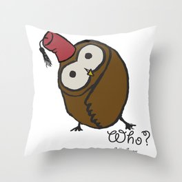 Who? Throw Pillow