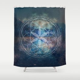 Sacred Geometry Universe X Shower Curtain