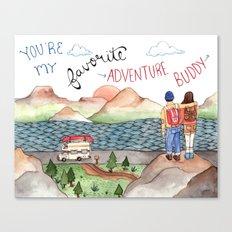 Adventure Buddy Canvas Print