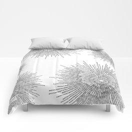 Bridging on White Background Comforters