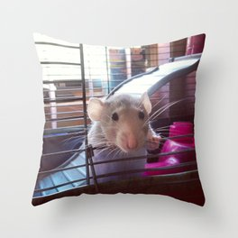 Olive the Rat Throw Pillow