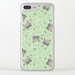 Teatime Spider - Green Clear iPhone Case