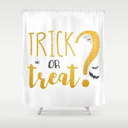 Trick Or Treat? | Glitter Shower Curtain