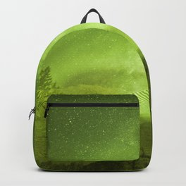 Abstract yellow Northern Lights stripes Backpack