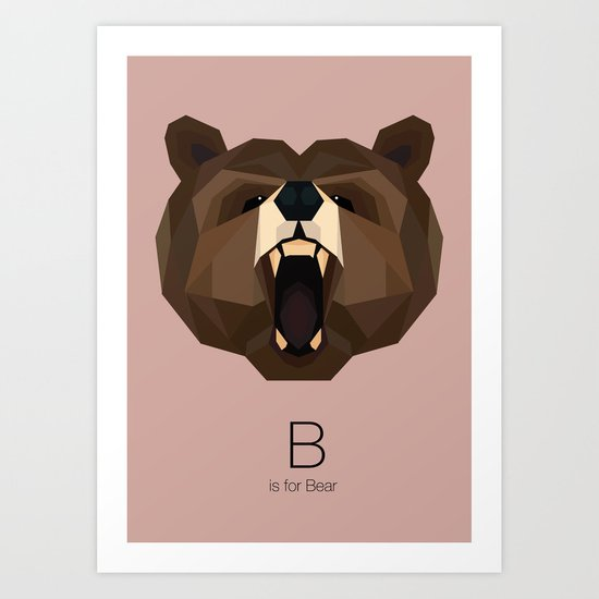 B is for Bear Art Print