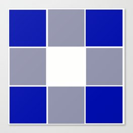 TEAM COLORS 3 ....BLUE ,GRAY Canvas Print