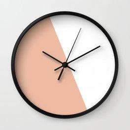 Geometric Ballet Slipper Pink + White Wall Clock