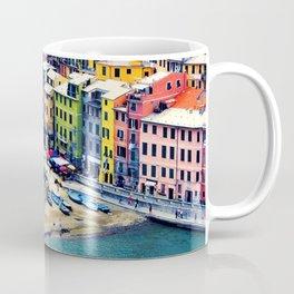 Italy Liguria Cinque Terre Seaside Colorful Houses Coffee Mug