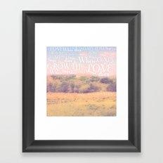 Love Dies  Framed Art Print