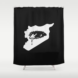 Mourn With Me Shower Curtain