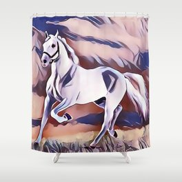 The American Paint Horse Shower Curtain