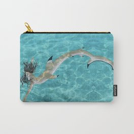 Blacktip Reef Shark Man Carry-All Pouch