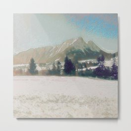 Winterly Landscape III Metal Print
