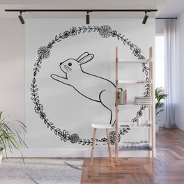 Hopping bunny Wall Mural
