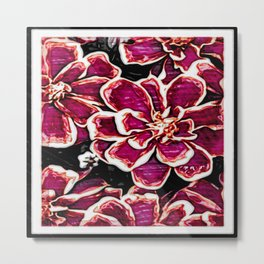 Floral Embosses: Magnolia Daydream 01-04 Metal Print