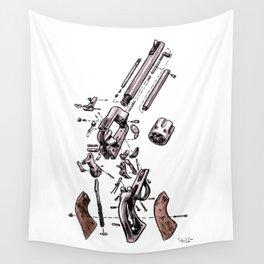 Exploded Gun Wall Tapestry