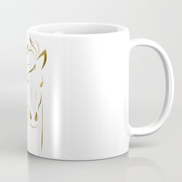 Golden Horse Drawing Coffee Mug