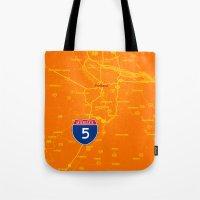 portland Tote Bags featuring portland by Larsson Stevensem