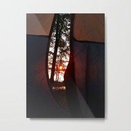 Sunrise at Lake Pemaquid Campground in Damariscotta, Maine (1) Metal Print