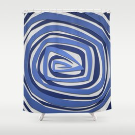 Vortex Spiral Shower Curtain