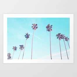 Palms Good Vibes Art Print