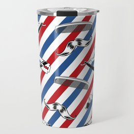 Barber Shop Pattern Travel Mug