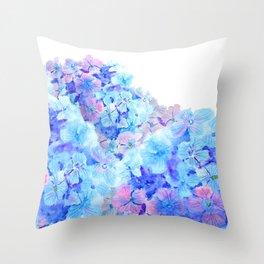 mountain of hydrangea Throw Pillow