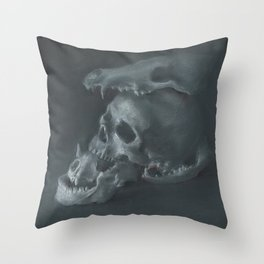 STACKED SKULLS Throw Pillow