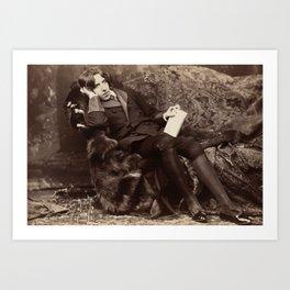 Oscar Wilde Lounging Portrait Art Print