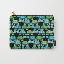 Turtle Pattern (Black/Blue/Green) Carry-All Pouch