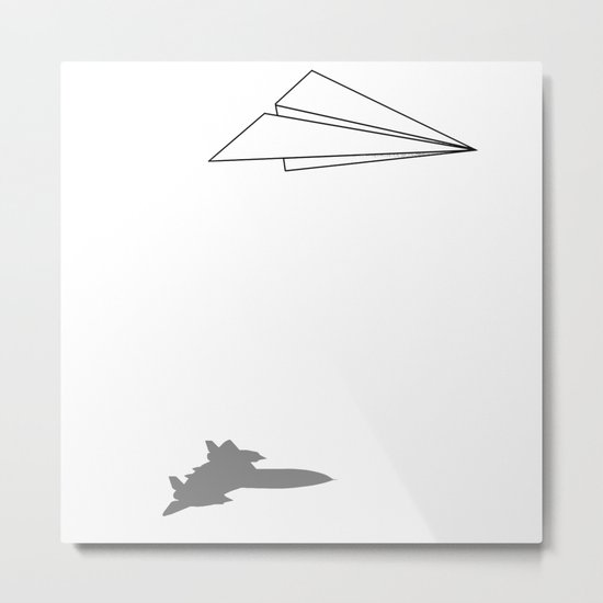 Paper Airplane Dreams Metal Print