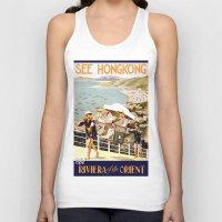 hong kong Tank Tops featuring HONG KONG by Kathead Tarot/David Rivera