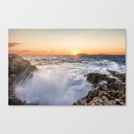 Breathtaking sunset Canvas Print