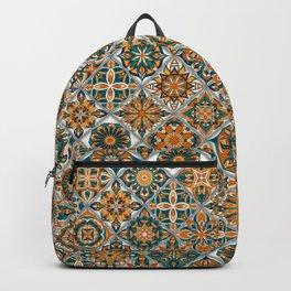 Vintage Mosaic Mandala Pattern Backpack