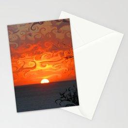 Fluid sunset in Sperlonga (Italy) Stationery Cards