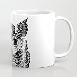 Meditative Ink Owl Coffee Mug